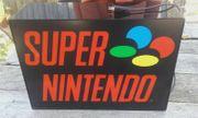 Super Nintendo Werbebeleuchtung SNES