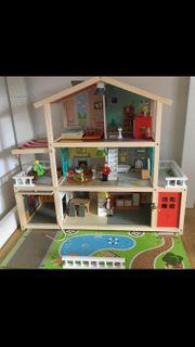 Hape Puppenhaus mit Möbel