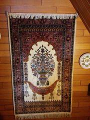 Orient-Wand- Bodenteppich Seiden-Isfahan