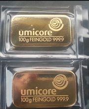 Umicore Goldbarren 2 x 100