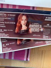zwei Konzert Karten Heimspiel Andrea
