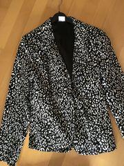 Damen-Sakko schwarz-weiß Gr 36