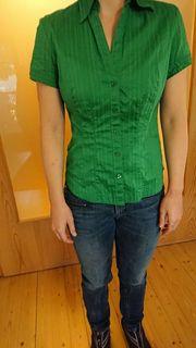 Damenbluse kräftiges Grün Gr 36