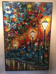Acryl Bild Abstrakte Kunst 80x120cm