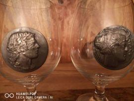 Glas, Porzellan antiquarisch - Gläserset