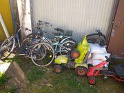 5 Fahrräder Kettcar und Bulldog