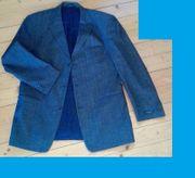 Jacket Jacke blau grau Größe