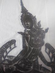 Drei dekorative Schwarzdrucke aus Südostasien-