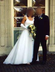Brautkleid zweiteilig Corsagenkleid in weiß