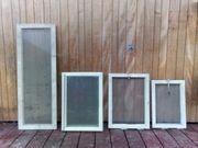 5 alte Holzfenster Deko Fenster