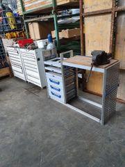 Werkbank für mobile Werkstatt