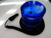 Kfz-Blitzleuchte BLAU Stroboskopblitzer mit MagFuß