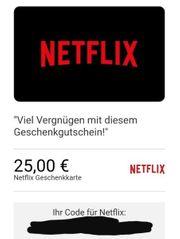 Netflix Gutschein 25