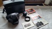 Minolta SRT 101 Spiegelreflexkamera mit