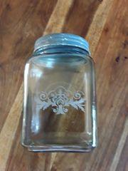 Glasaufbewahrung Vorratsglas mit Deckel Shabby
