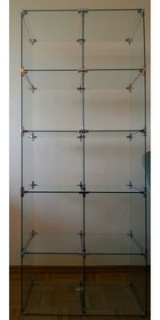 Glassteckvitrine Glasregal Sicherheitsglas
