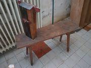 alte Schnitzbank aus Holz antik