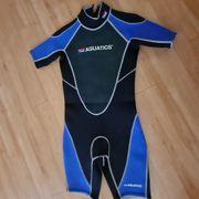 Aquatics Shorty Neoprenanzug Blau Schwarz
