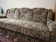Sofa mit Bettfunktion u Sessel