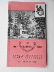 Festschrift MGV Liederkranz Herrenalb zum