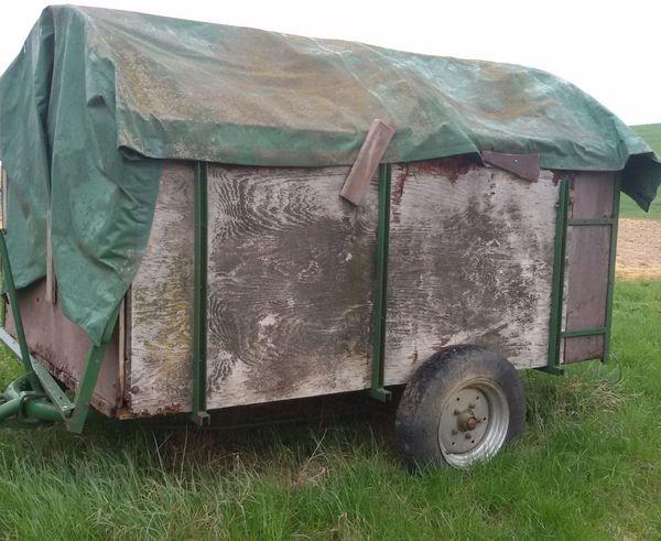 Alter Viehwagen Viehanhänger Traktor Anhänger