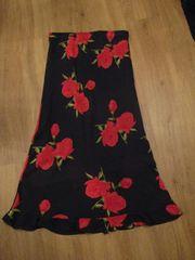 Flamenco-Rock Tanzrock Abendrock schwarz m