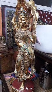 Figur Tänzerin blattvergoldet