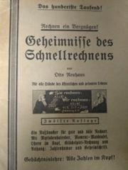 Geheimnisse des Schnellrechnens historisches Heft