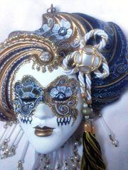 Wunderschöne venezianische Wandmaske