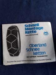 Schneeketten von Oberland Schnellmontage