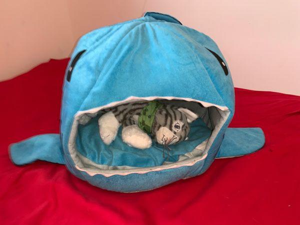 Katzenkorb Hai Türkis