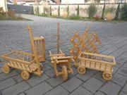 5 Teile Deko Holzwagen Kiste