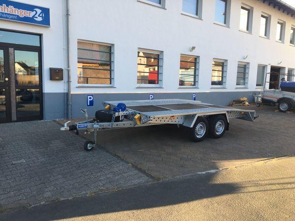 Anhänger Autotransporter Uni Hochlader 4x2m