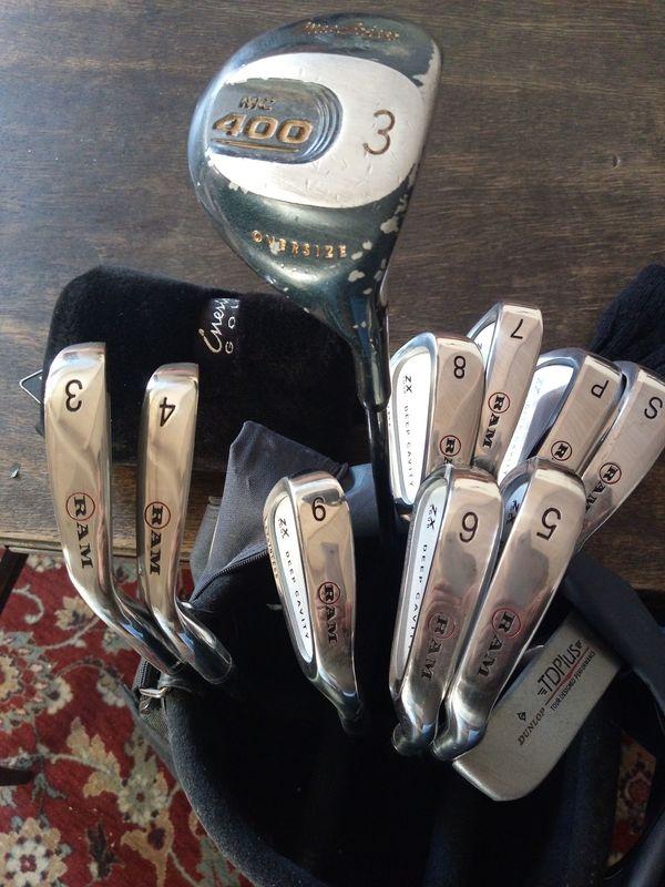 Verkaufe Golfsack mit Schlägern