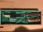 Hirschhorn Tranchierbesteck Messer und Gabel