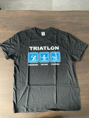 Spaß T-Shirt XL Triatlon schwarz