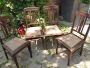 Antike Stühle Jugendstilmotiv 4 Stück