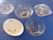 5x Schüssel Schale Glasschale - Vintage -
