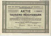Alte Aktie von 1926