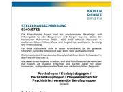 Psychologe Sozialpädagoge Fachkrankenpfleger Pflegeexperte
