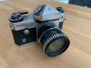Pentacon super Analogkamera mit Objektiv