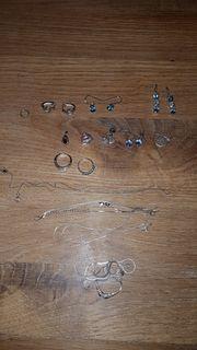 Echt Silber Ketten gebraucht Ohrringe