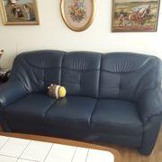 Verkaufe eine blaue Couch echt