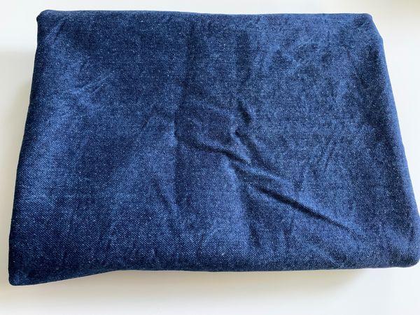 Stoffrest dunkelblauer fester Denim 150x110cm