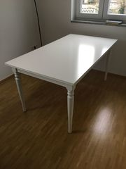 Esstisch weiß ausziebar 87cm x