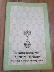 Neuerscheinungen 1939- Dietrich Keimer
