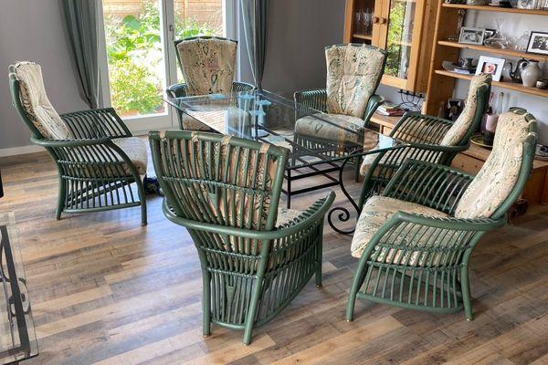 Rattan-Sitzgruppe Lounge-Style