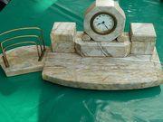 Schreibtischgarnitur antik aus Alabaster