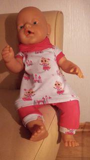 Puppenkleidung 2-teilig Prinzessin mit Kapuze