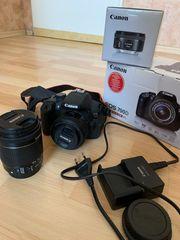 Canon 700D Spiegelreflexkamera mit 2
